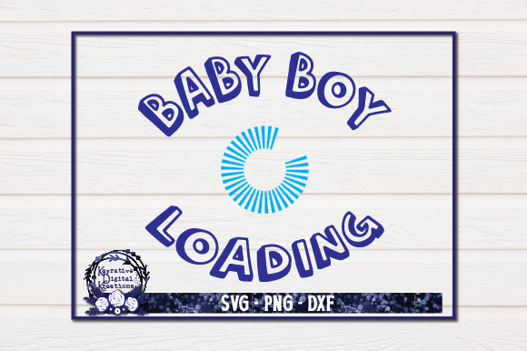 Download Free Pregnancy Shirt Baby Boy Loading Graphic By Kayla Griffin for Cricut Explore, Silhouette and other cutting machines.