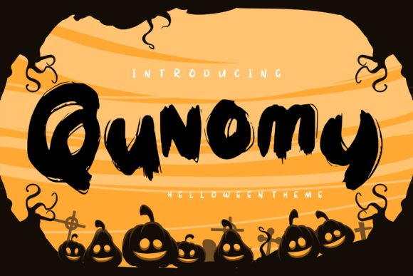 Print on Demand: Qunomy Decorative Font By Vunira