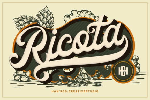 Print on Demand: Ricota Display Font By HansCo