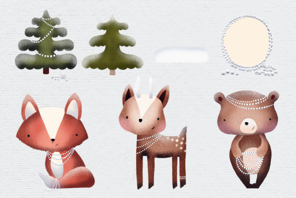 Download Free Scandinavian Woodland Animal Clipart Graphic By Wallifyer for Cricut Explore, Silhouette and other cutting machines.