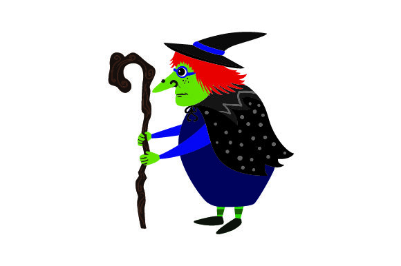 Scary Witch Halloween Craft Cut File By Creative Fabrica Crafts