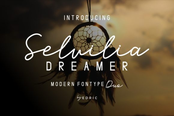 Print on Demand: Selvilia Dreamer Script & Handwritten Font By EdricStudio
