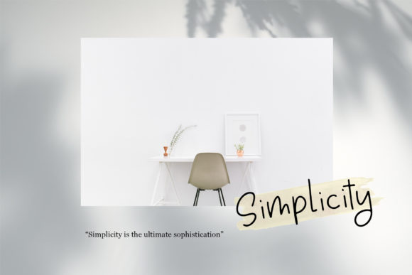 Simplicity Font By dmletter31 Image 2