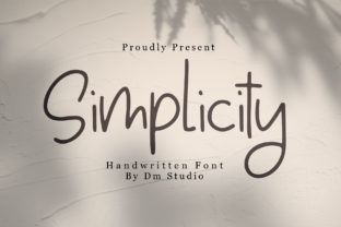 Simplicity Font By dmletter31