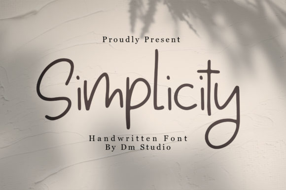 Print on Demand: Simplicity Script & Handwritten Font By dmletter31
