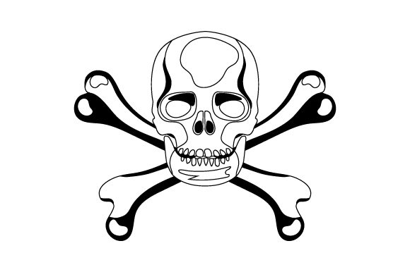 Download Free Skull Crossbones Svg Cut File By Creative Fabrica Crafts for Cricut Explore, Silhouette and other cutting machines.