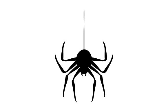 Spider Hanging from Thread Halloween Craft Cut File By Creative Fabrica Crafts