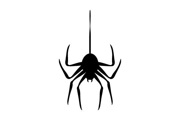 Spider Hanging from Thread Cut File Download