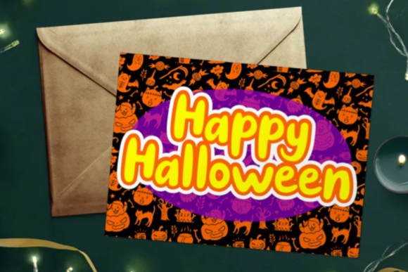 Print on Demand: Spooky Cat Display Font By Dreamink (7ntypes) - Image 3