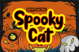 Spooky Cat Font By Dreamink (7ntypes)