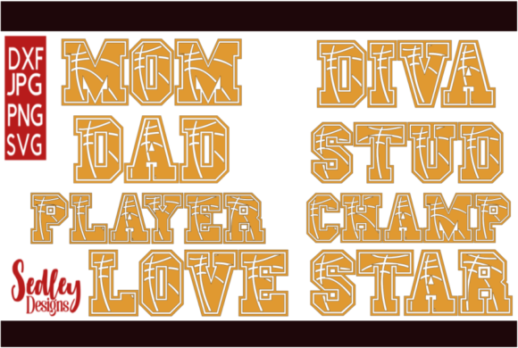 Download Free Sports Letters Basketball Bundle Graphic By Sedley Designs for Cricut Explore, Silhouette and other cutting machines.
