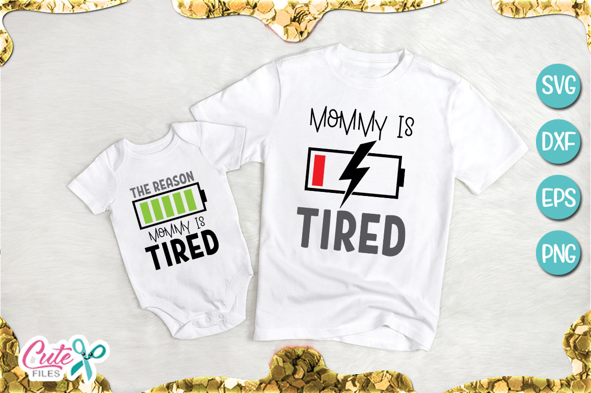 Download Free The Reason Mommy Is Tired Graphic By Cute Files Creative Fabrica for Cricut Explore, Silhouette and other cutting machines.