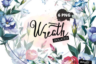 Watercolor Flower Wreath PNG Set Graphic By MyStocks