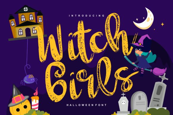 Witch Girls Script & Handwritten Font By Vunira