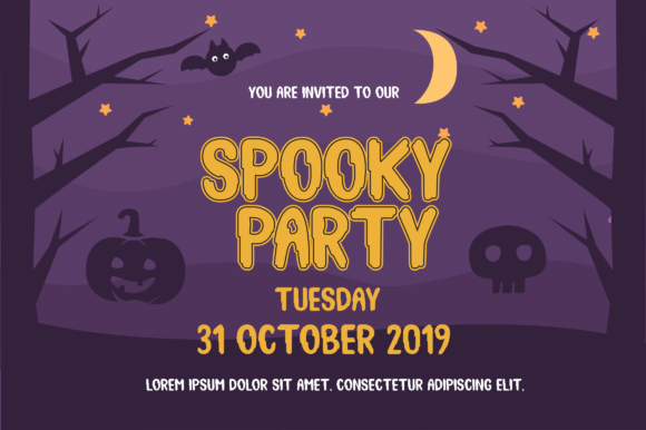 Print on Demand: Spooky Booah Display Font By Suby Store - Image 2