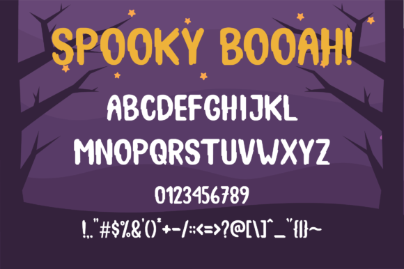 Print on Demand: Spooky Booah Display Font By Suby Store - Image 5