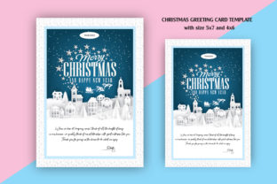 Christmas Greeting Card Graphic By Skull and Rose
