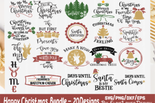 Holiday Christmas Bundle Gráfico Por ElsieLovesDesign