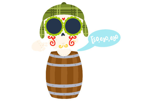 Download Free El Chavo Skull Svg Cut File By Creative Fabrica Crafts for Cricut Explore, Silhouette and other cutting machines.