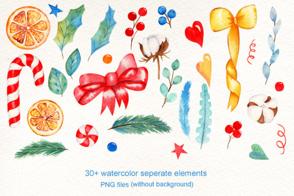 Print on Demand: Wreath Creator Watercolor Clipart Graphic Illustrations By tanatadesign - Image 2