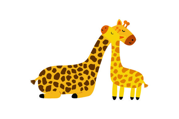 Download Free Giraffe And Baby Giraffe Embracing Svg Cut File By Creative for Cricut Explore, Silhouette and other cutting machines.