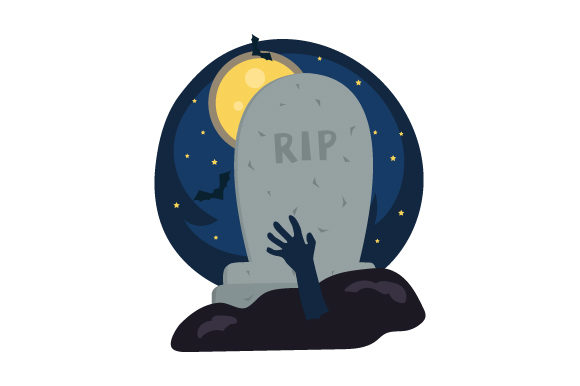 Grave Stone (with Hand Reaching out of Ground) Halloween Craft Cut File By Creative Fabrica Crafts