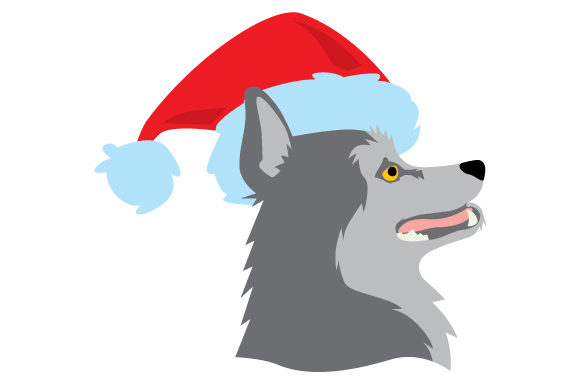 Download Free Husky Wearing Santa Hat Side Profile Of Head And Neck Svg Cut for Cricut Explore, Silhouette and other cutting machines.