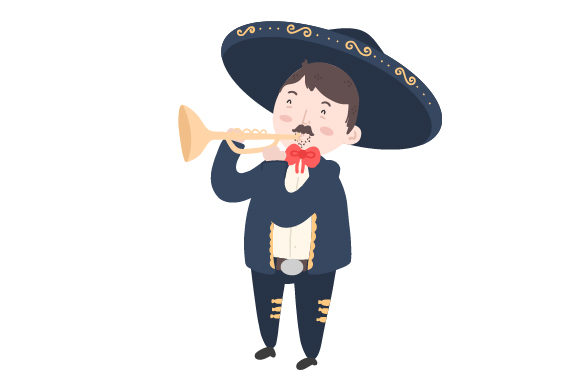 Download Free Mariachi With Trumpet Svg Cut File By Creative Fabrica Crafts Creative Fabrica for Cricut Explore, Silhouette and other cutting machines.
