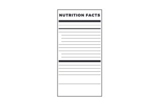 Nutrition Label Craft Design By Creative Fabrica Crafts