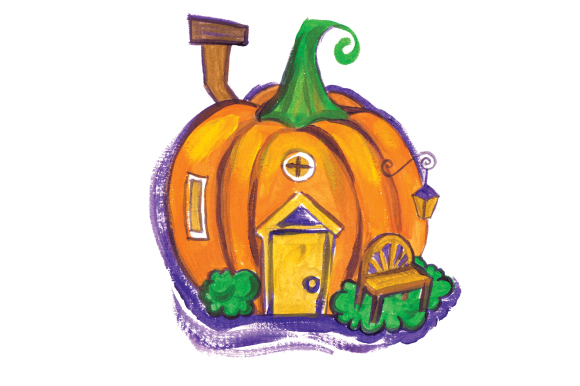 Download Free Pumpkin House In Gouache Style Svg Cut File By Creative Fabrica for Cricut Explore, Silhouette and other cutting machines.