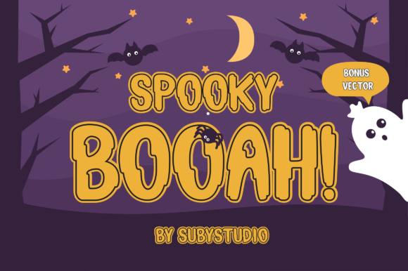 Print on Demand: Spooky Booah Display Font By Suby Studio