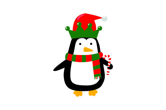 Christmas Penguin Christmas Craft Cut File By Creative Fabrica Crafts