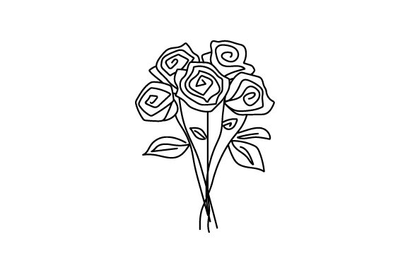 Download Free Flower Bouquet Line Art Style Svg Cut File By Creative Fabrica for Cricut Explore, Silhouette and other cutting machines.
