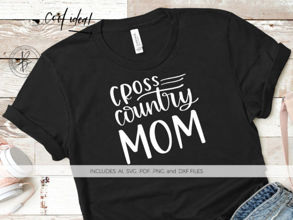 Print on Demand: Cross Country Mom SVG Graphic Crafts By BeckMcCormick - Image 1