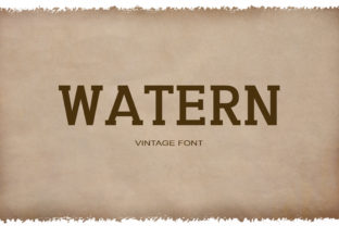 Watern Font By maxim.90.ivanov
