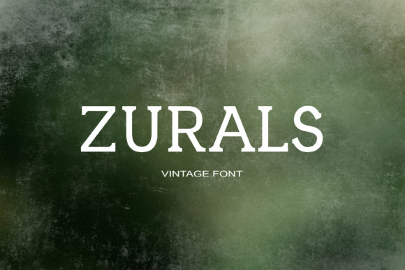 Print on Demand: Zurals Serif Font By maxim.90.ivanov