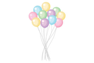 Bunch of Balloons Craft Design By Creative Fabrica Crafts