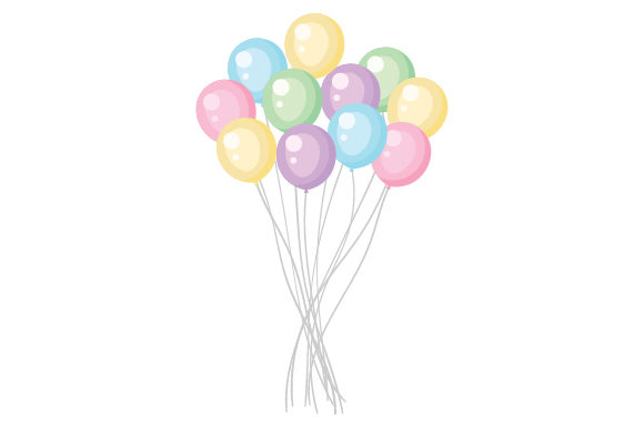 Download Free Bunch Of Balloons Svg Cut File By Creative Fabrica Crafts for Cricut Explore, Silhouette and other cutting machines.