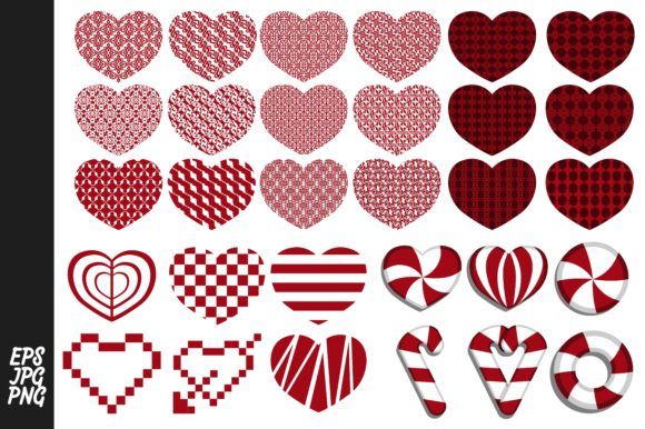 Print on Demand: Love Heart Vector Bundle Graphic Illustrations By Arief Sapta Adjie