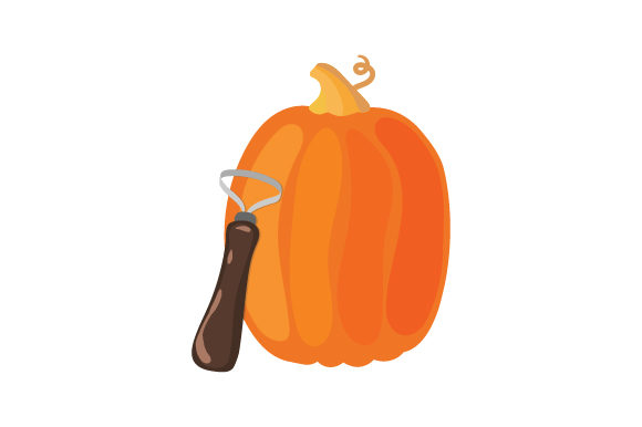 Download Free Pumpkin With Carver Svg Cut File By Creative Fabrica Crafts for Cricut Explore, Silhouette and other cutting machines.