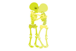 Skeletons Kissing Halloween Craft Cut File By Creative Fabrica Crafts