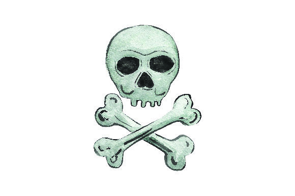 Download Free Skull Crossbones Watercolor Svg Cut File By Creative Fabrica for Cricut Explore, Silhouette and other cutting machines.