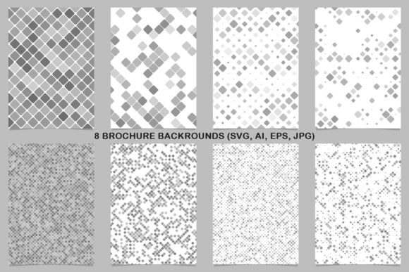 8 Grey Brochure Backrounds Graphic By davidzydd Image 1