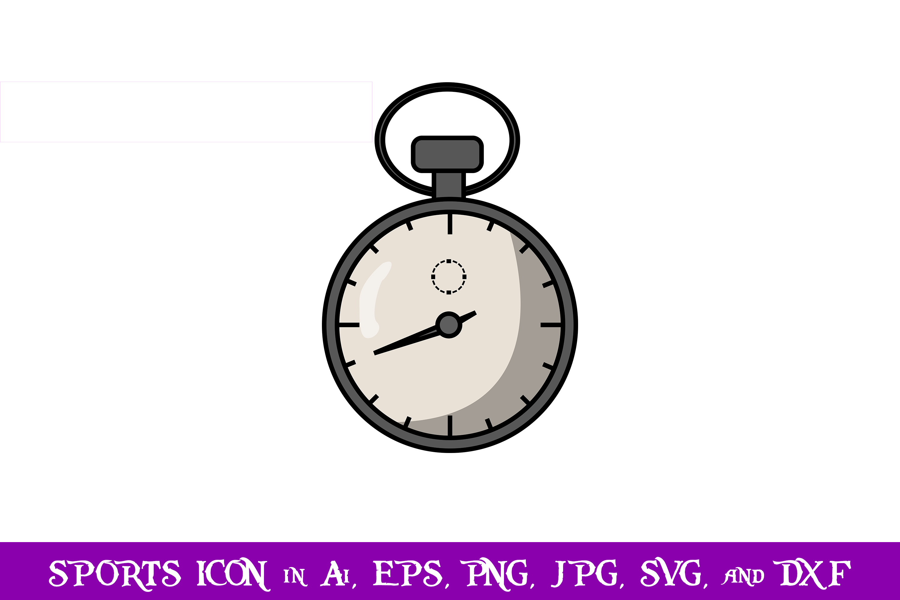 Download Free Stopwatch Sport Icon Graphic By Purplespoonpirates Creative Fabrica for Cricut Explore, Silhouette and other cutting machines.