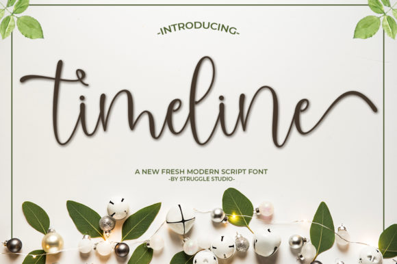 Print on Demand: Timeline Script & Handwritten Font By Struggle Studio