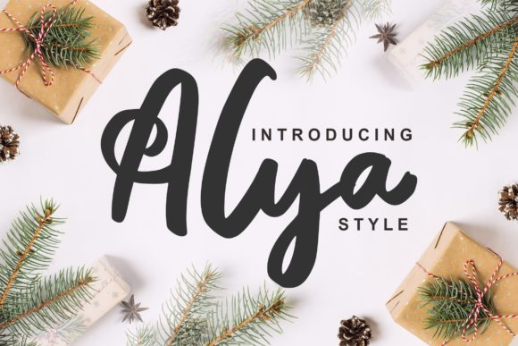 Print on Demand: Alya Script & Handwritten Font By Vunira