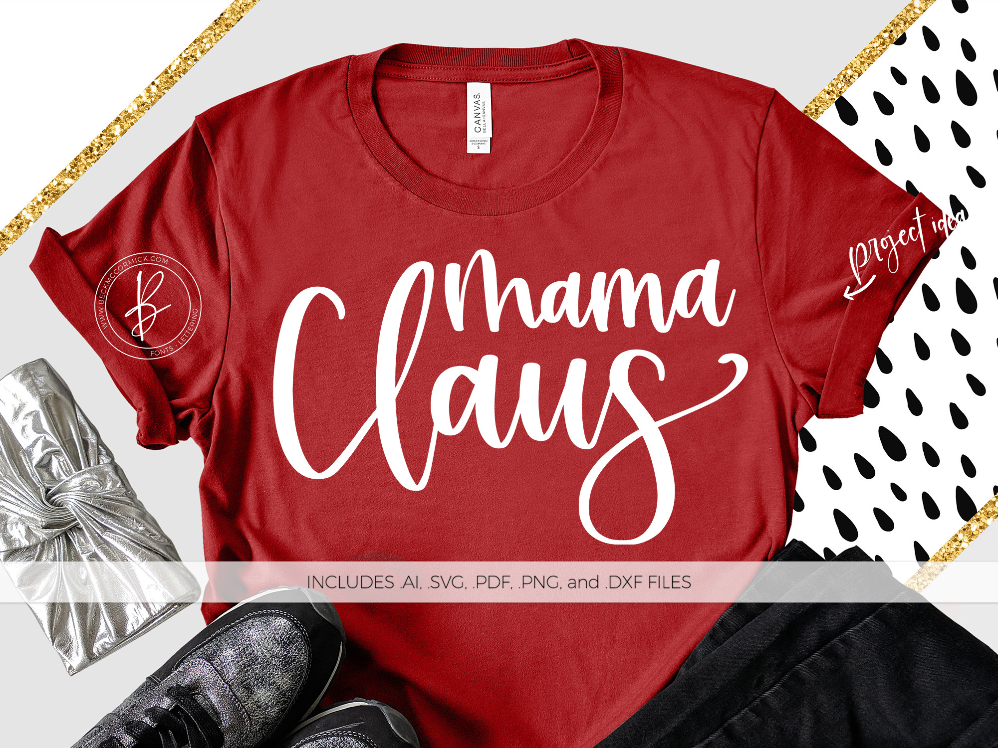 Download Free Mama Claus Graphic By Beckmccormick Creative Fabrica for Cricut Explore, Silhouette and other cutting machines.
