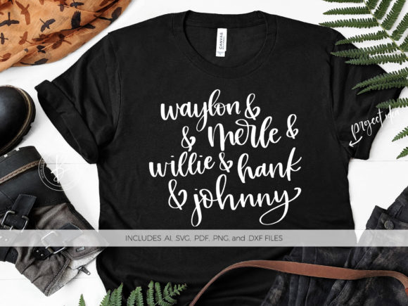 Print on Demand: Waylon Merle Willie Hank Johnny Graphic Crafts By BeckMcCormick