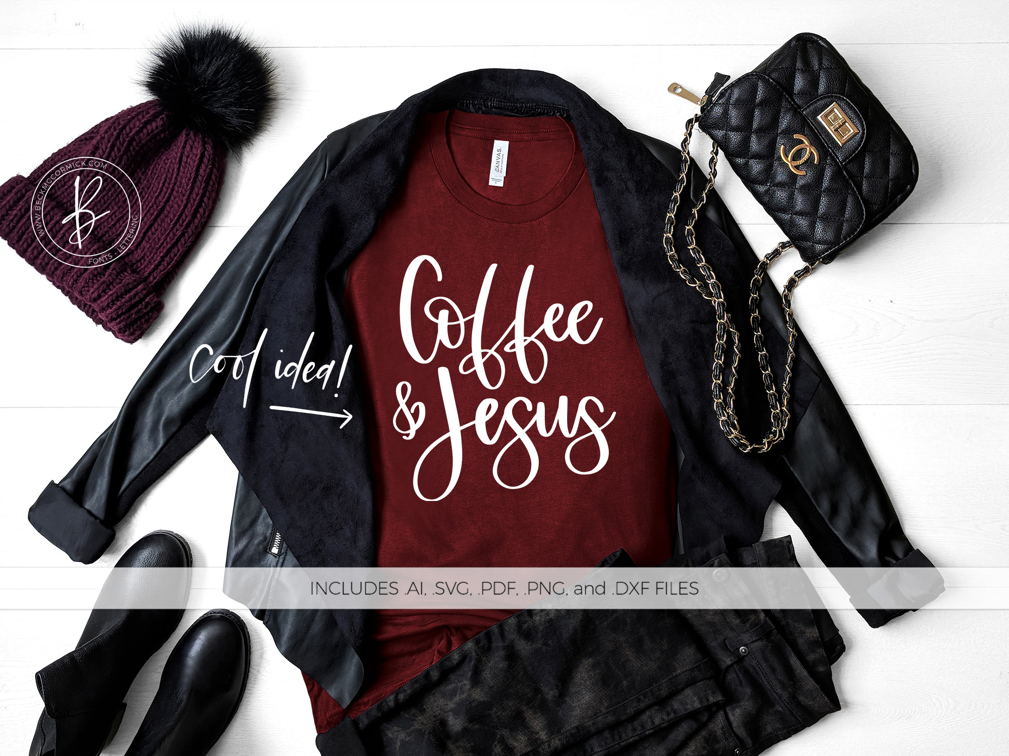 Download Free Coffee And Jesus Graphic By Beckmccormick Creative Fabrica for Cricut Explore, Silhouette and other cutting machines.