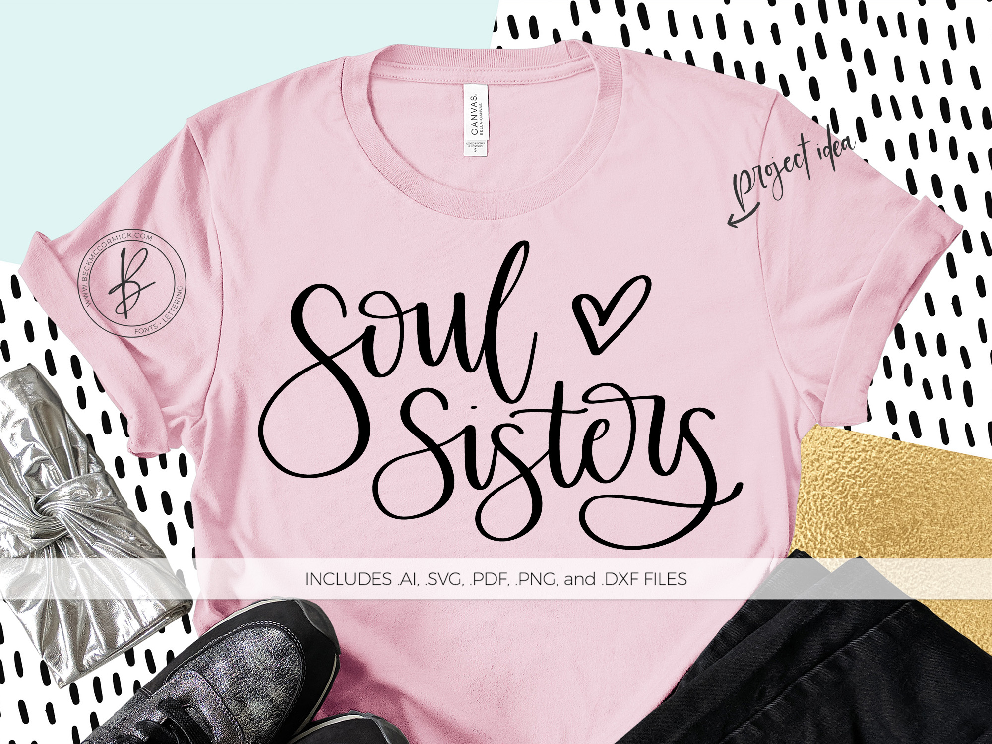 Download Free Soul Sisters Graphic By Beckmccormick Creative Fabrica for Cricut Explore, Silhouette and other cutting machines.